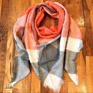 Orange & Gray Triangle Scarf